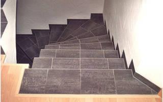 Правильная укладка кафеля на ступеньки лестницы
