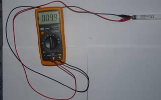 Как проверить дроссель лампы дневного света мультиметром