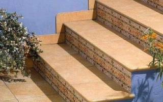 Облицовка ступеней бетонной лестницы плиткой