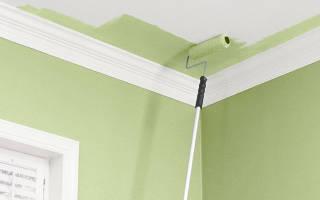 Как правильно красить потолок валиком без полос