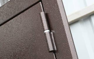 Как сделать внутренние петли на металлической двери