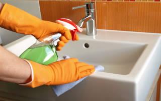 Как почистить керамическую раковину на кухне