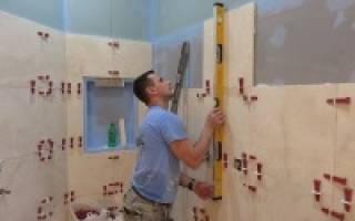 Подготовка стен под кафель в ванной