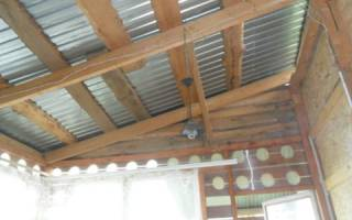 Потолок для веранды с закрытым типом