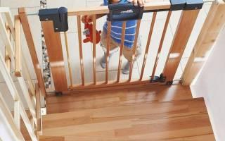 Детские ворота безопасности для лестниц своими руками