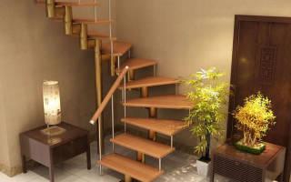 Сборка модульной лестницы с поворотной площадкой