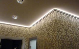 Канал для светодиодной ленты на потолок