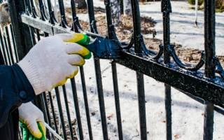 Чем покрасить ограду из металла